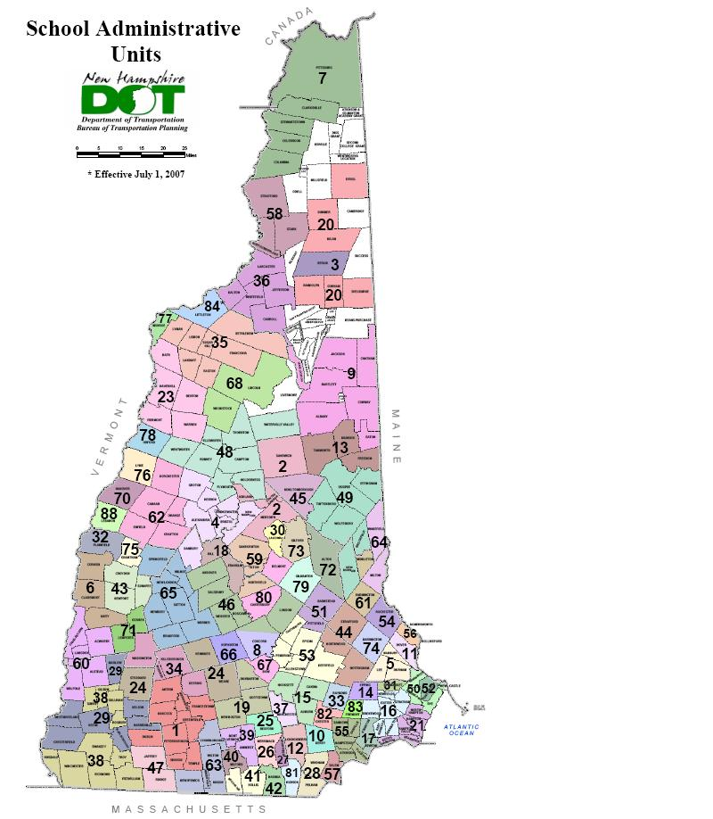 NH Town Map - New hampshire towns map